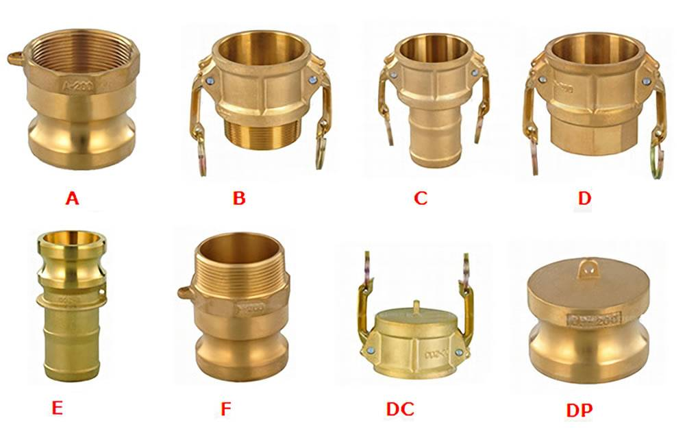 Brass camlock couplings non sparking durable