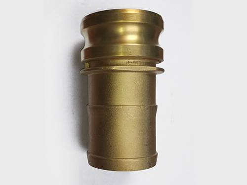 Brass camlock adapter part E—male adapter by hose shank.