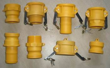 Nylon camlock coupling including type a, b, c, d, e, f, dp & dc