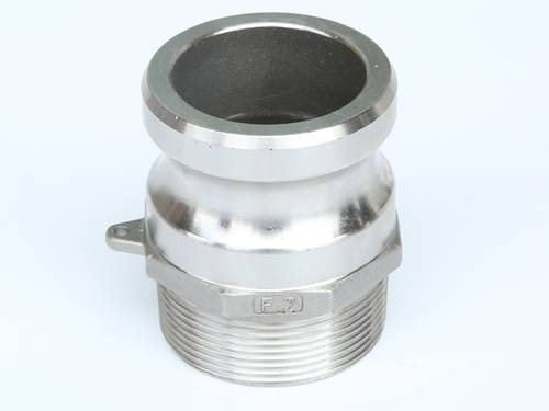 Stainless steel camlock adapter type f male by